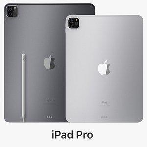 3D apple ipad pro 2020 model