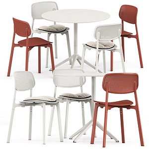 3D colander table chair model