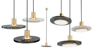 3D model ampatron pirita chandelier