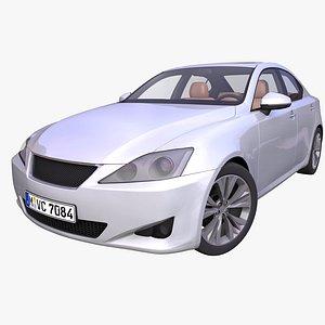 3D generic japanese sedan interior car