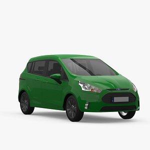 3D car vehicle hatchback