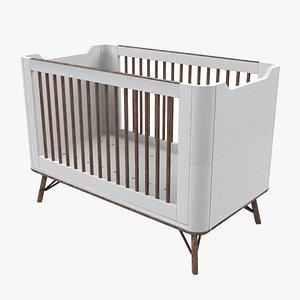 3D baby bed crib model