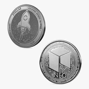 3D Cryptocurrency Coins Silver Collection