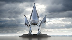 Water sculpture   life culture symbol of the city landmarks  protect   earth 3D model