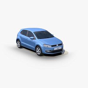 3D Volkswagen Polo TDI 2014 model