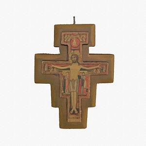 3D model Jesus on the cross high-poly 3D model