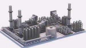 3D Industrial Area 17 model