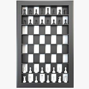 3D model Vertical Chess Set