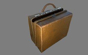 Doctor bag 19th century PBR 3D model