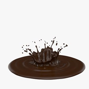3D model crown splash chocolate