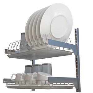 dish drainer drain 3D