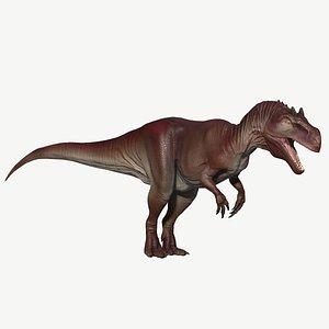 3D allosaurus model