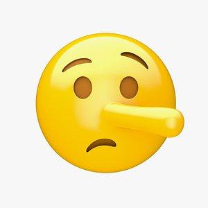 3D Apple Lying Face
