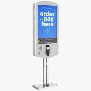 3D Fast Food Electronic Kiosk model