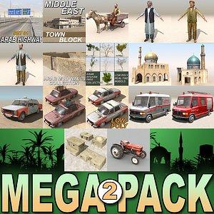 arab mega 2 city 3d model