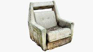 3D Old Mold Chair Scan 3D Low-Poly
