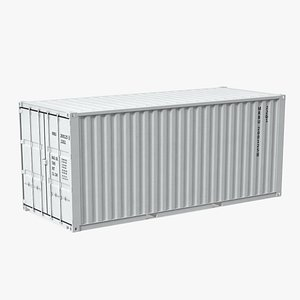 3d 20 ft iso container model
