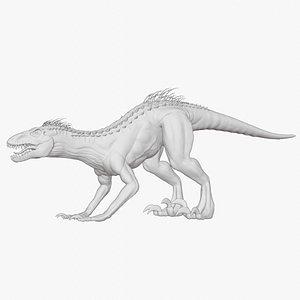Indoraptor Sculpted model