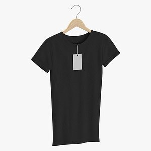 3D Female Crew Neck Hanging With Tag Black