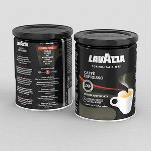 coffe lavazza black 250g 3D model
