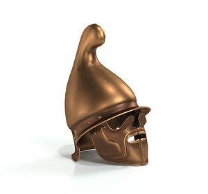 greek thracian hoplite helmet 3D model