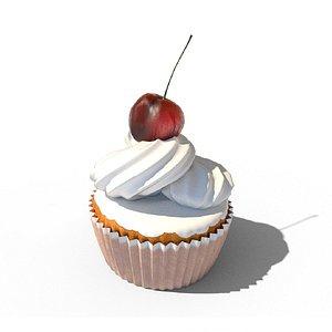 3D Cupcake 02 model