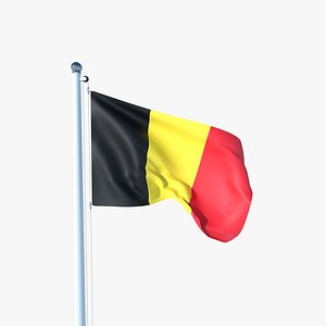 3D Animated Flag of Belgium model