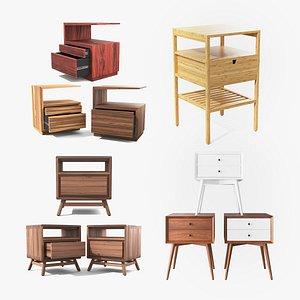 bedside timber table ikea 3D model
