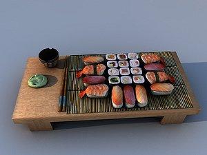 3D seafood food