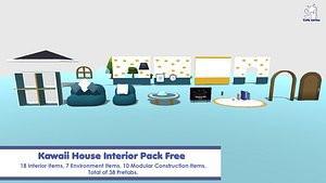3D model Kawaii House Interior Pack