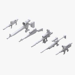 gundam federation weapon 3D model