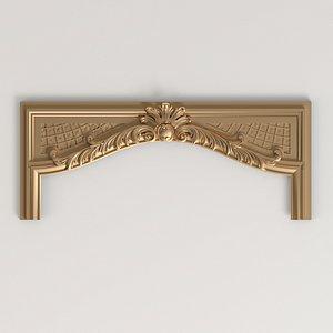 carved crown cnc 3D model