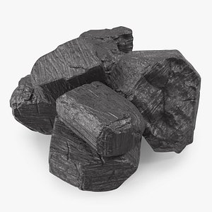 Bituminous Coal Pile 3D model