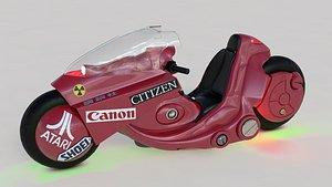 3D kaneda motorcycle