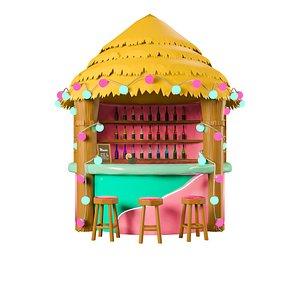 3D Tropic Cafe model