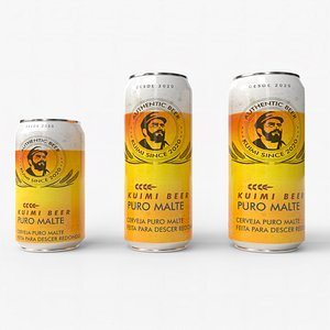 3D Beer Can Pack 01 model