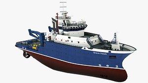 3D Tugboat Brave Hawk