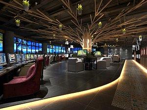 Internet cafe bar cafe sense of technology Internet bar competitive Internet bar Blues Internet bar 3D model