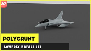 3D POLYGRUNT - Low Poly Rafale Jet model