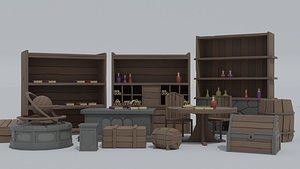 3D cartoon dungeon asset
