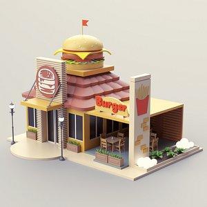 3D Burger Shop 01