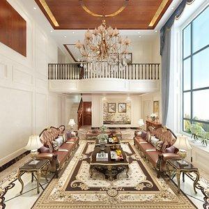 3D Villa First Floor Design model