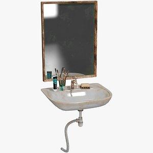Batroom Sink Old 3D model