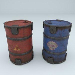 barrels materials 3D model