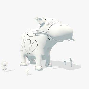 3D ar cow model
