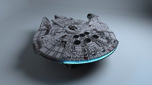 3D millenium falcon model