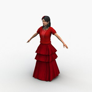 3D flamenco dancer