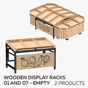 Wooden Display Racks 01 and 07 - Empty 3D model