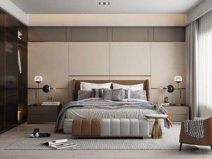 3D Modern Style Bedroom - 529