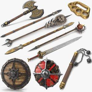 axe sword weaponry 3D model